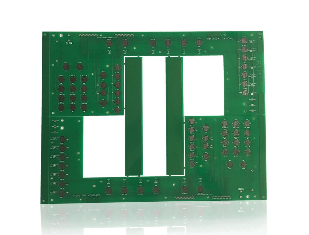 元器件面,焊接面,阻焊层和丝印层等组成,具有导电线路和绝缘底板的